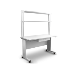 Mesa soporte con cajón y dos baldas para TLC-S.