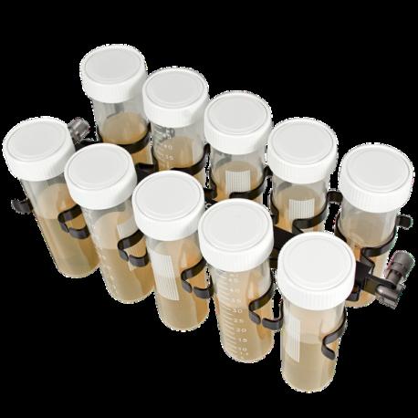 Plataforma PRSC-10, para 10 tubos 50 ml (Ø 20-30 mm). Sujetos con pinzas.