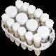 Plataforma para 4 tubos de 50 ml y 12 Tubos de hasta 15 mm. de diámetro para agitador MULTI BIO RS-24.