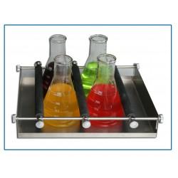 Plataforma de resortes ajustable para diferentes tipos de recipientes