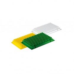 Placas de PCR, Volumen de trabajo 0.2ml. Libres de DNA,DNAsa y RNasa. 10 Unids