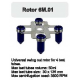 Rotor Angular 4x50 ml. (30x135 mm.) 3500 RPM.
