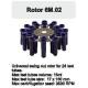 Rotor Angular 24x15 ml. (17x150mm.) 3500 RPM